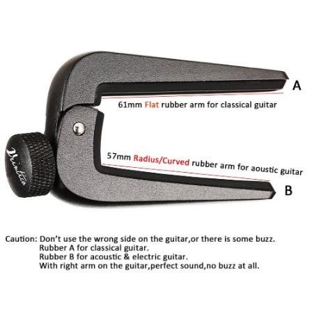 U1156:6弦 12弦 アコースティック クラシック エレクトリックギター ベース マンドリン ウクレレ 弦楽器用 調整可能 ギターカポフィット_画像3