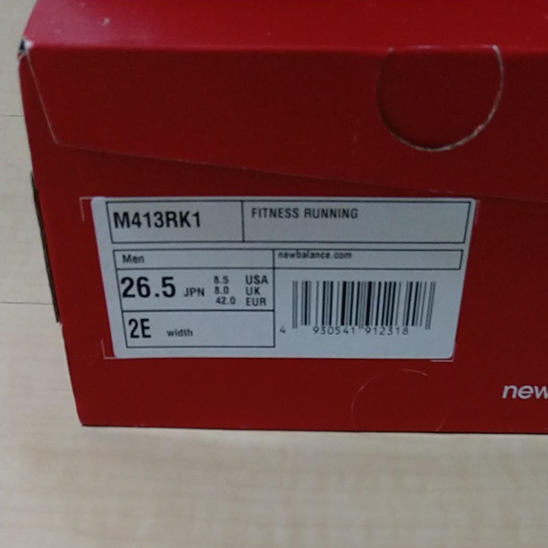ニューバランス [21年春新作] メンズ フィットネス ランニング NB M413 2E RK1 ブラック/レッド