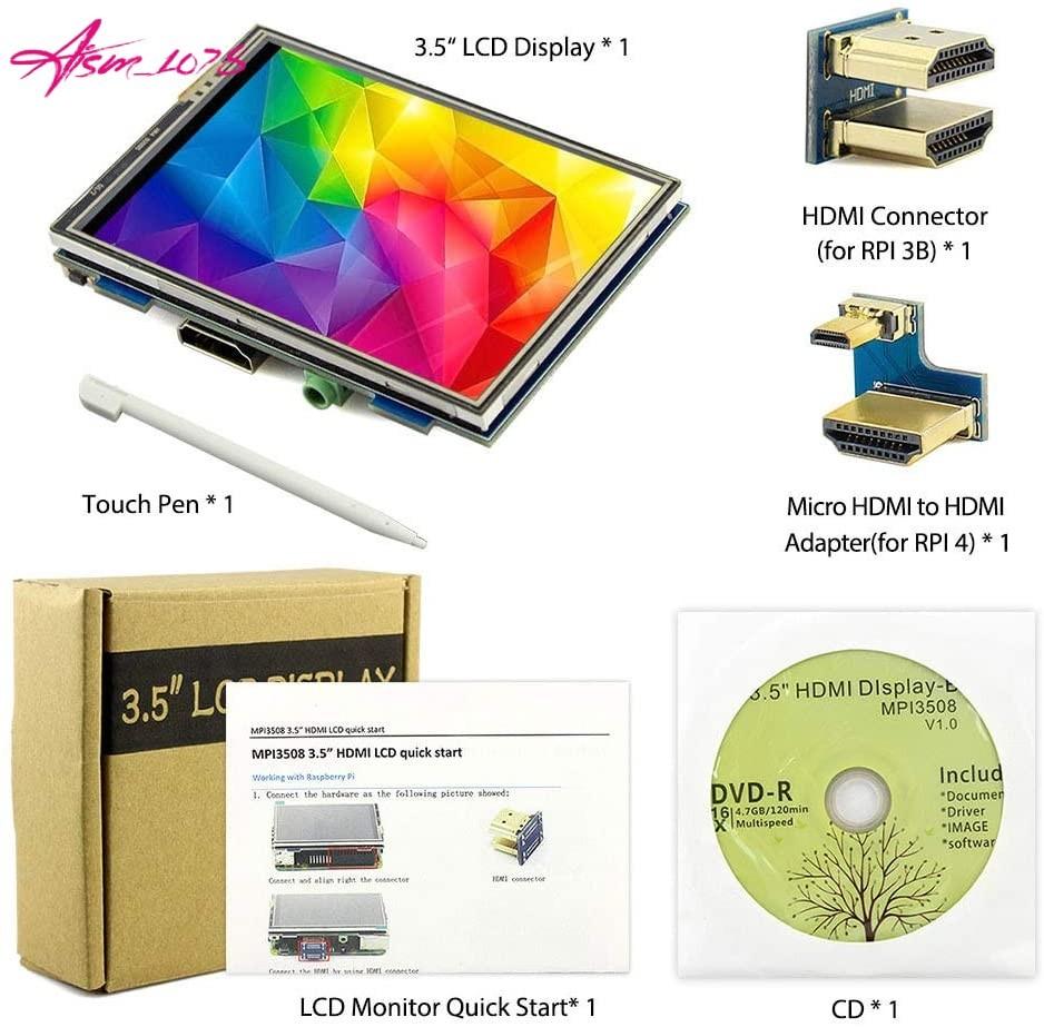 ELECROW 3.5インチ モバイルモニター タッチパネル HDMI LCD ディスプレイ ポータブル 小型液晶 ゲーム【Raspberry Pi 4B/3B+/3B対応】_画像7