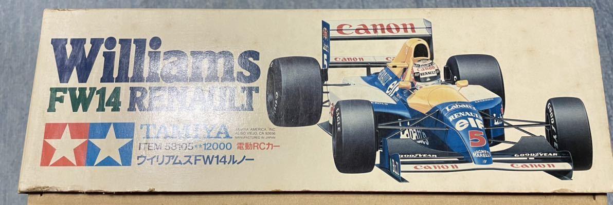 送料無料 タミヤ 1/10 ウィリアムズFW14ルノー F102 新品 未組立 旧車 絶版 当時物 デッドストック F-1 F1 組立キット_画像9