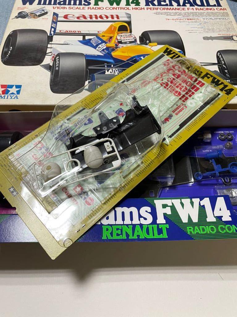 送料無料 タミヤ 1/10 ウィリアムズFW14ルノー F102 新品 未組立 旧車 絶版 当時物 デッドストック F-1 F1 組立キット_画像3