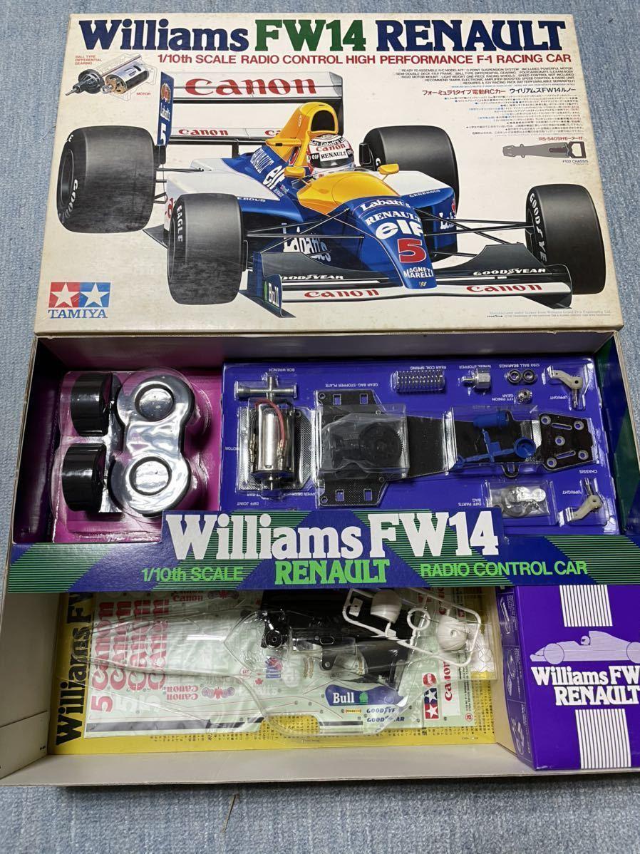 送料無料 タミヤ 1/10 ウィリアムズFW14ルノー F102 新品 未組立 旧車 絶版 当時物 デッドストック F-1 F1 組立キット_画像1