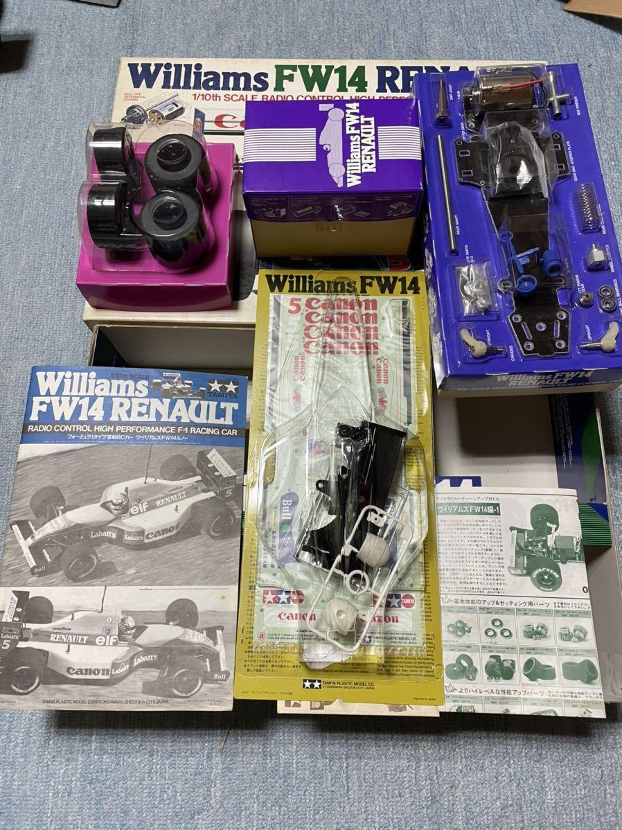 送料無料 タミヤ 1/10 ウィリアムズFW14ルノー F102 新品 未組立 旧車 絶版 当時物 デッドストック F-1 F1 組立キット_画像4