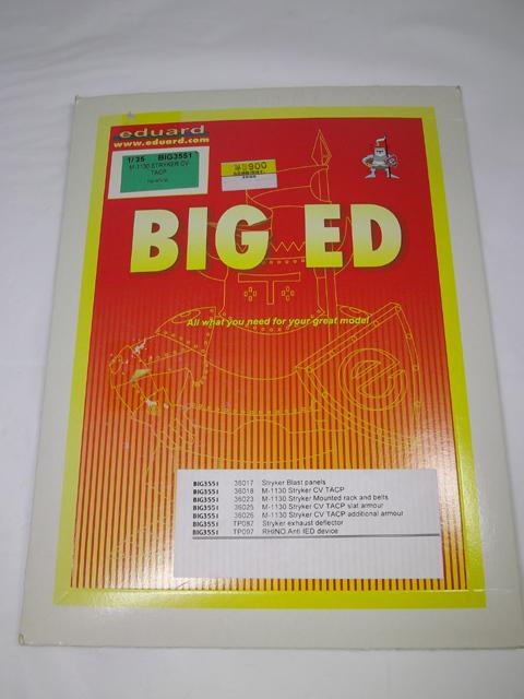 エデュアルド ビッグエド BIG ED  BIG3551 AFV Club 1/35ストライカー M-1130CV TACP エッチングパーツセット アーマースラット 装甲_画像1