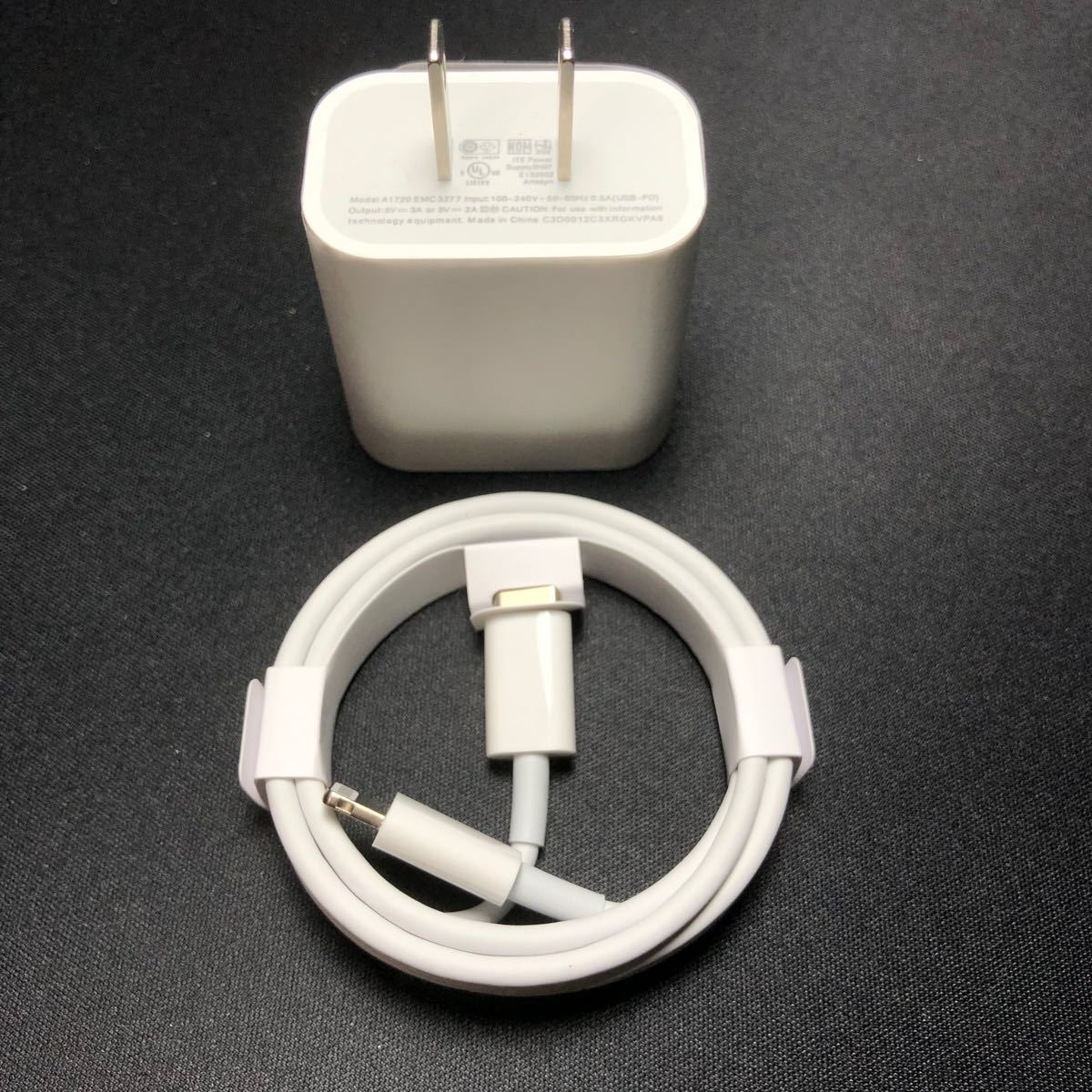 iPhone充電器1m type-c USB-Cケーブルアダプターセット純正品質 ライトニングケーブル 充電器