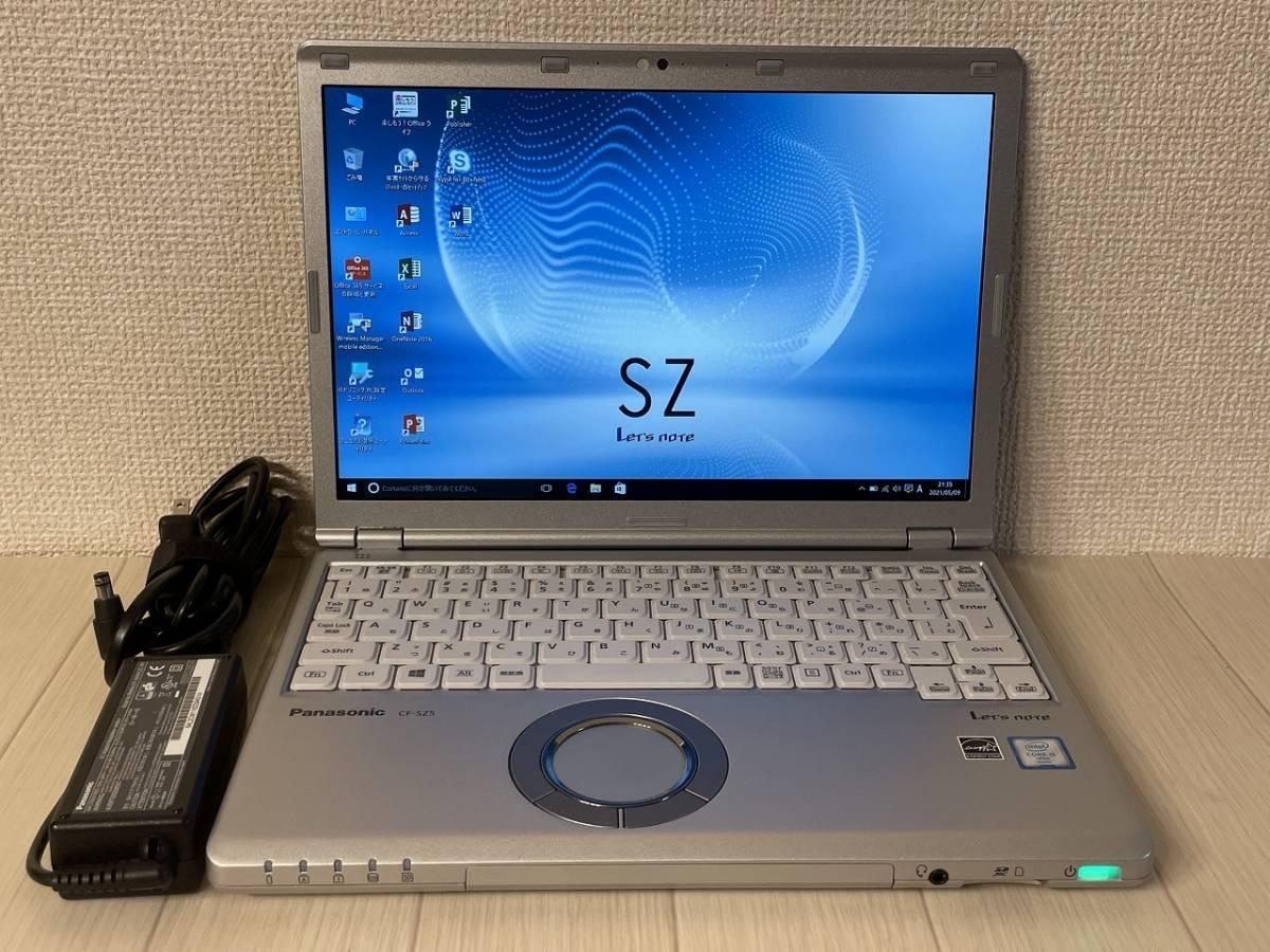 【即配 美品】Panasonic Let's note CF-SZ5PDY6S /Core i5 2.4Ghz-3.0Ghz/8GBメモリ+256GB・SSD/MS Office 2019/12.1型 FULL HD