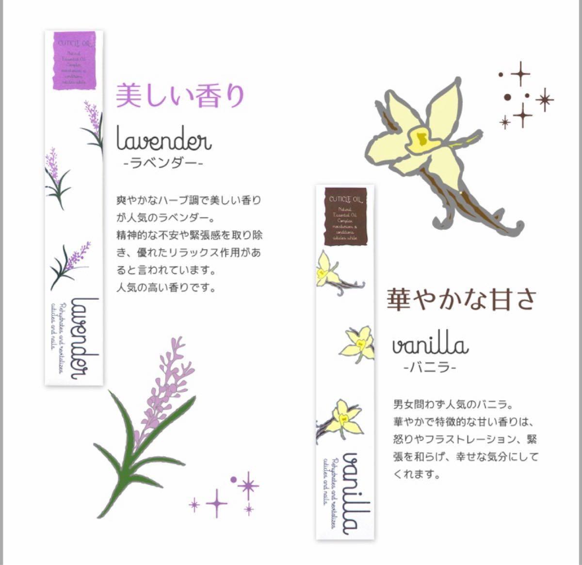 ネイルオイル 2本 キューティクルオイル  ネイル 本数、香り変更OK☆