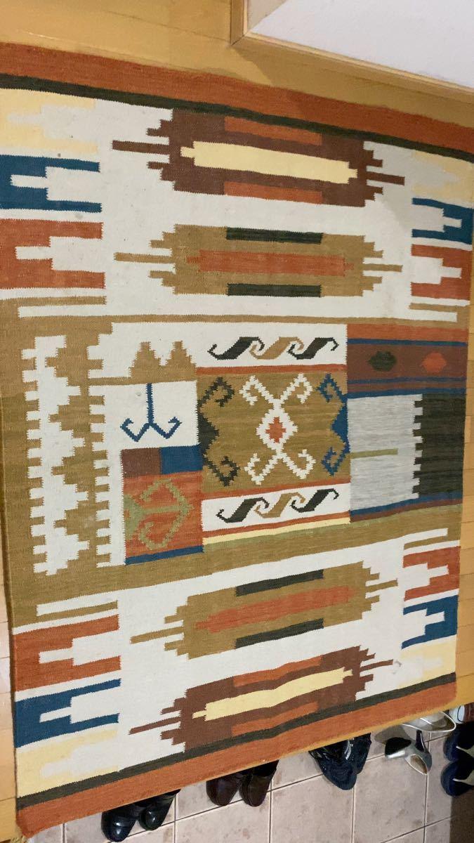 アウトドアラグ マット  オールドキリム 手織り キリム トルコ キャンプ ファミリーキャンプ