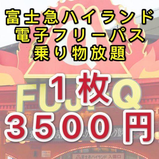 即決★富士急ハイランド フリーパス 2枚 チケット_画像1