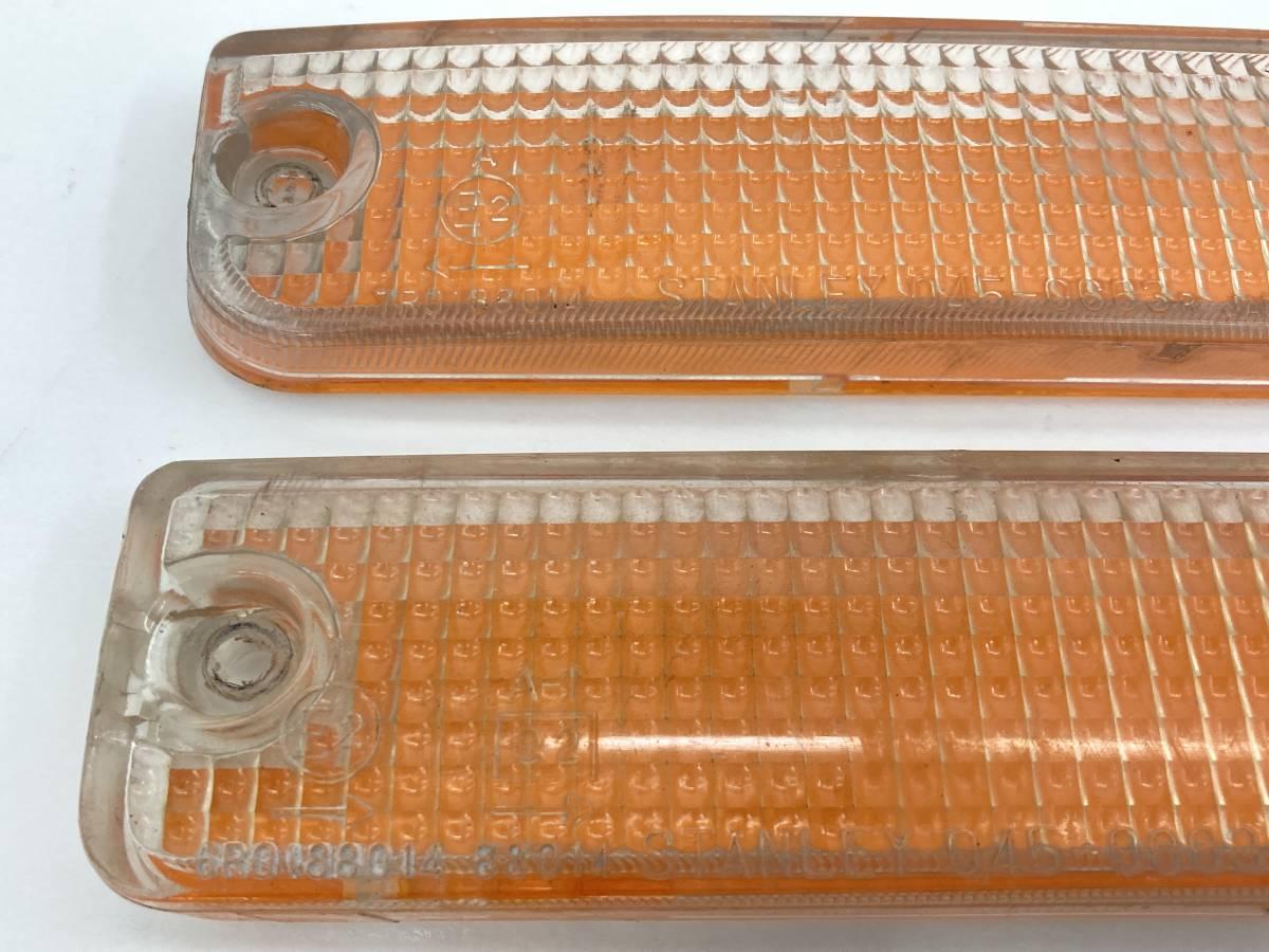 _b61180 マツダ サバンナRX-7 E-FC3S フロントバンパー ウィンカー レンズ (1) ライト ランプ 左右 LH RH STANLEY 045-0663 FC3C_画像2
