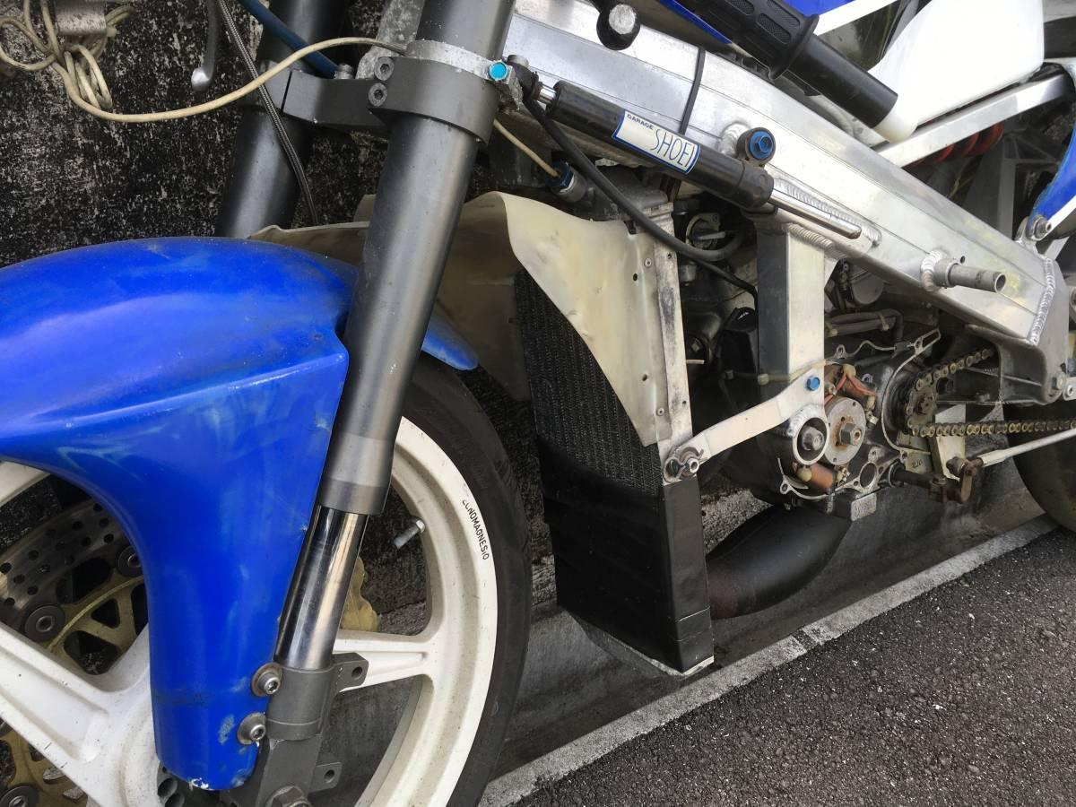 「S50 ホンダ RS125の車体にNSR50エンジン WP ホワイトパワー倒立フォーク テクマグ エンジンかかります 要整備 スペアパーツ込み」の画像3