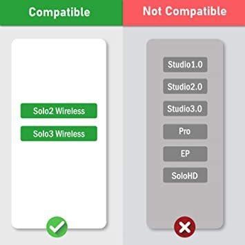 黒 SoloWIT イヤーパッド イヤークッション 交換用 Solo 2.0&3 Wirelessに対応 革 ヘッドフォンに適用_画像2