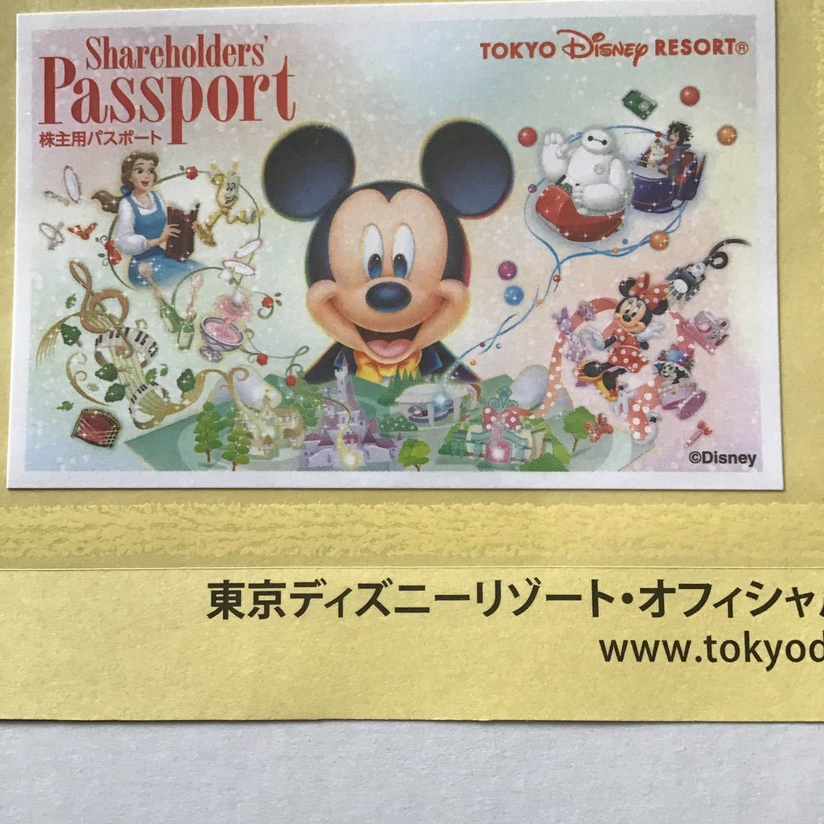 東京ディズニーリゾート 株主優待パスポート オリエンタルランド 株主優待券 チケット パスポート 2022年1月31日 有効期限_画像1