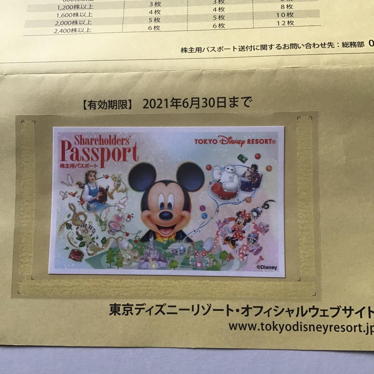 東京ディズニーリゾート 株主優待パスポート オリエンタルランド 株主優待券 チケット パスポート 2022年1月31日 有効期限_画像2