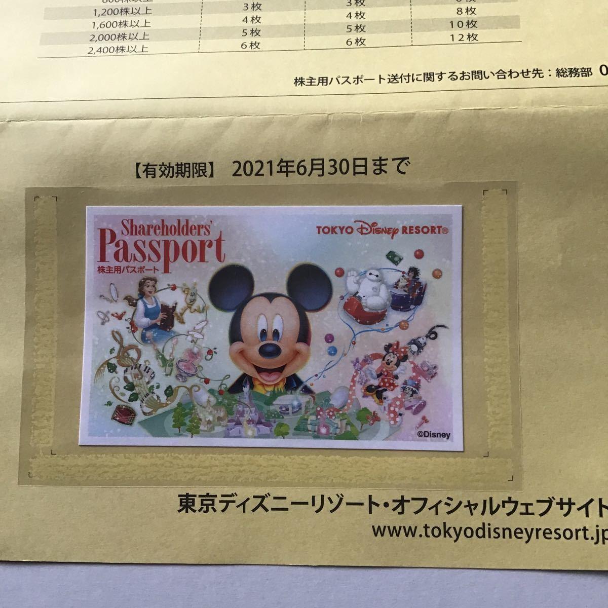 東京ディズニーリゾート 株主優待パスポート オリエンタルランド 株主優待券 チケット パスポート 2022年1月31日 延長有効期限_画像2