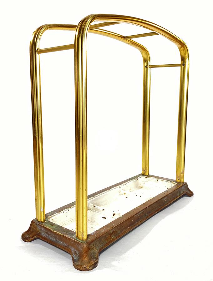 1930年代ドイツ製 アルミ 傘立て/モダン/アンティーク/バウハウス/店舗什器/椅子/デスク/チェア/インダストリアル/ビンテージ/ランプ/照明_画像1