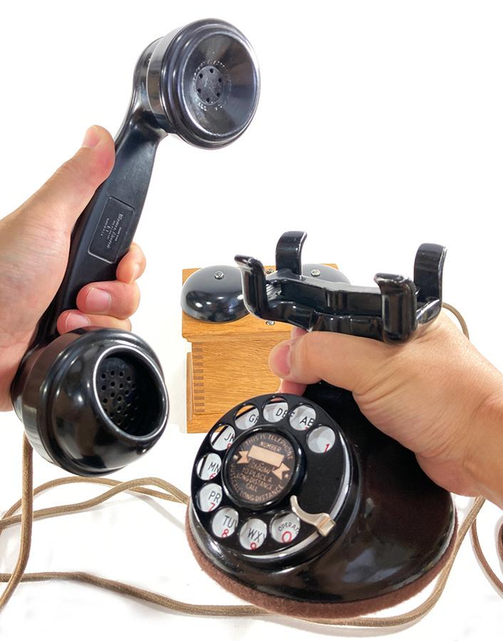 -実働品- 1920's USA アンティーク 電話機/家具/店舗什器/ランプ/ビンテージ/デスク/o.c.white/gras/黒電話/映画/rrl/古着/sweet orr/照明_画像2
