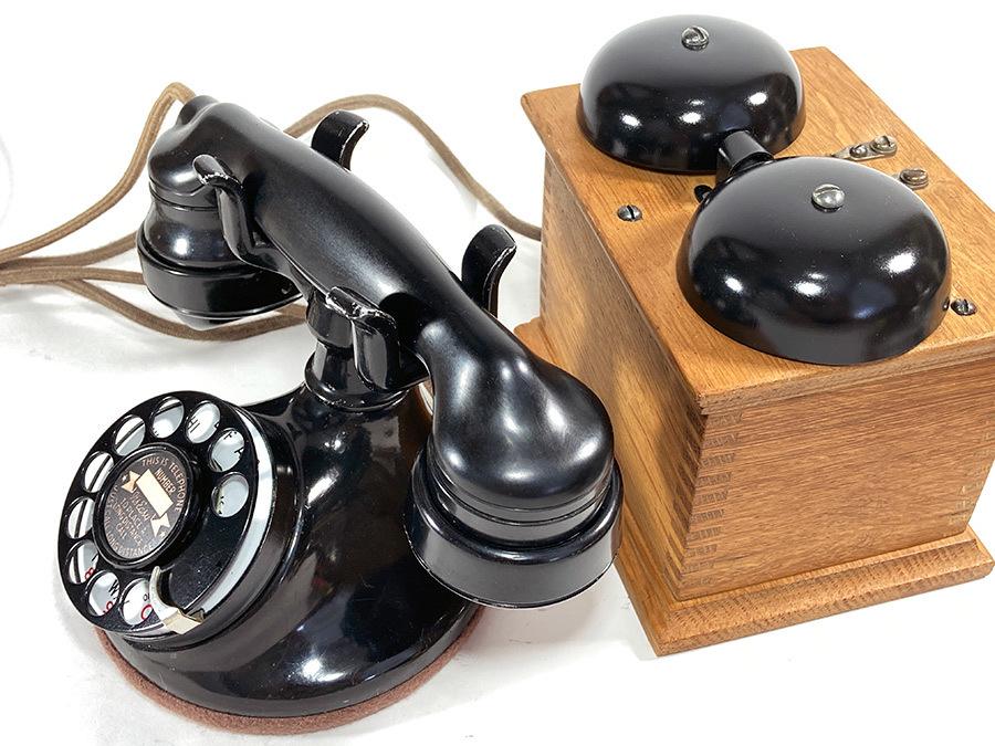 -実働品- 1920's USA アンティーク 電話機/家具/店舗什器/ランプ/ビンテージ/デスク/o.c.white/gras/黒電話/映画/rrl/古着/sweet orr/照明_画像9