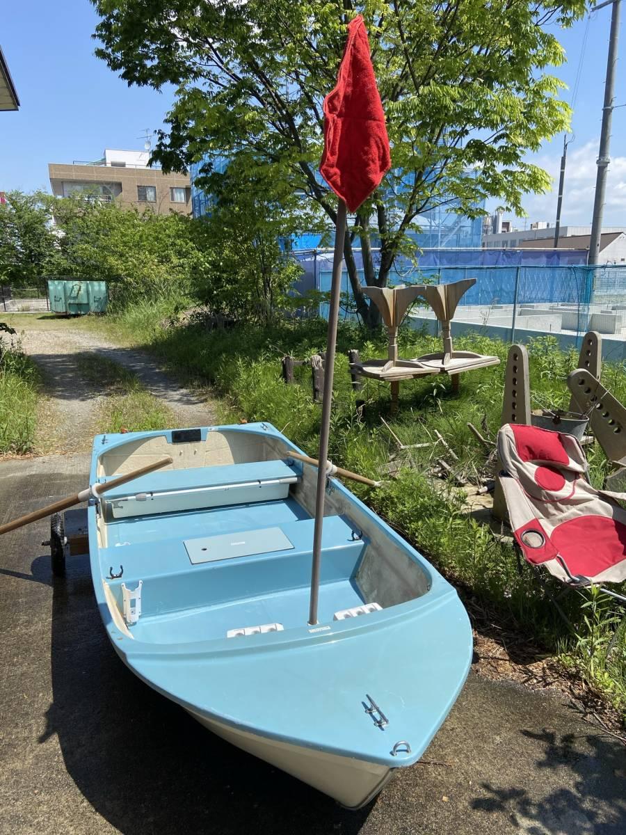 「ケン マリンボート 釣り 8馬力船外機付属 中古 付属品多数」の画像1