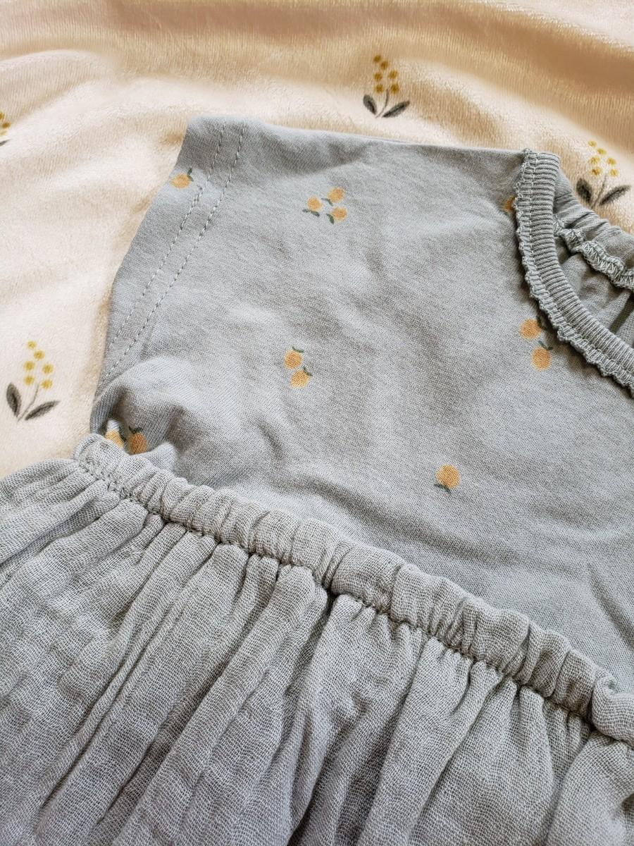 ベビー服 ワンピース チュニック 女のコ テータテート バースデイ トップス 夏服 半袖 プチプラ 韓国服 新品 90サイズ ザラ