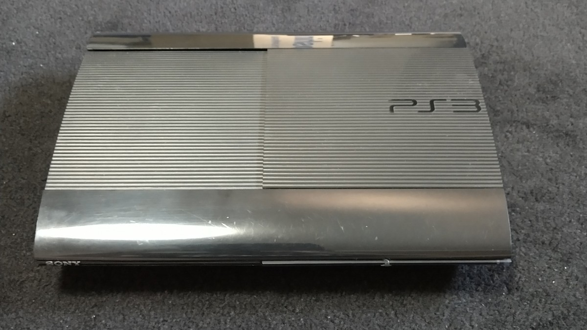 PS3本体 ゲームソフト付き 初期化済み 可動品