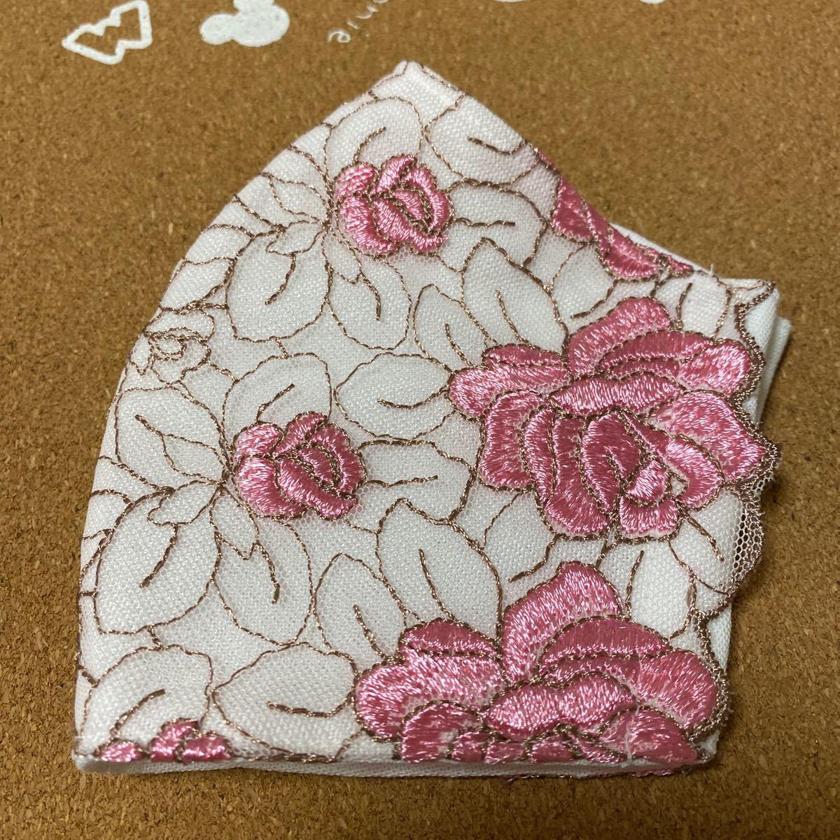立体インナー★ハンドメイド★薔薇刺繍レース★K