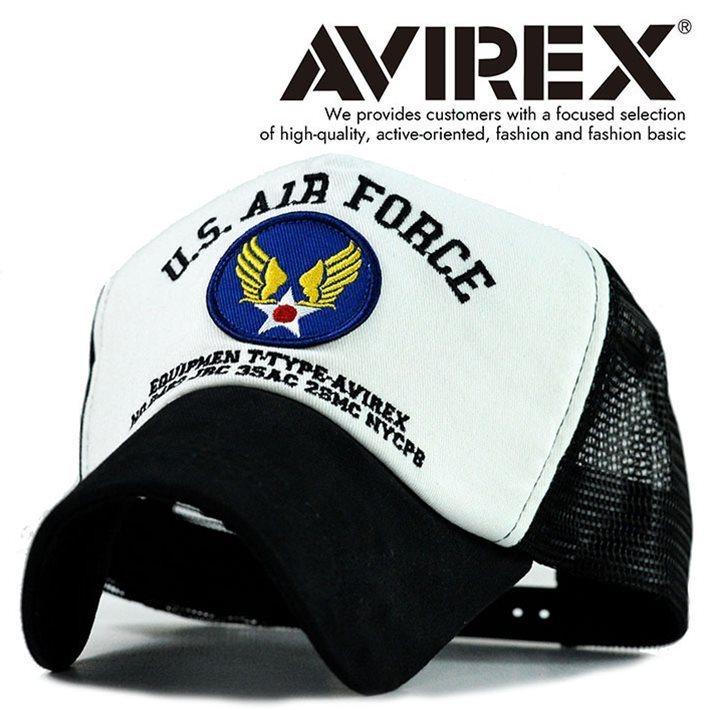 AVIREX メッシュキャップ メンズ 帽子 アビレックス アヴィレックス 正規品 キャップ ブランド 14533800-01 7988500 【M】 ホワイト 新品