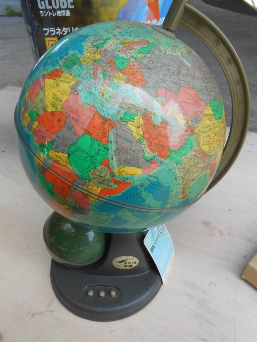 中古★回るメロディ地球儀 10号 直径26㎝★_画像1