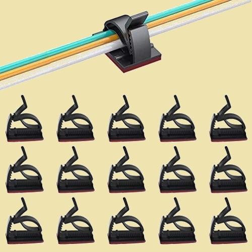 未使用 新品 Craft Longan G-X7 事務室用 (黑) 50PCS ケ-ブルクリップ 6階段調節可能 コ-ドクリップ ケ-ブルホルダ- 収納やすい_画像1