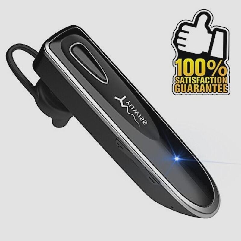 新品Bluetooth ワイヤレス ヘッドセット V4.1 片耳 高音質 超大容量バッテリー 36時間通話可能(ブラU0GB_画像1
