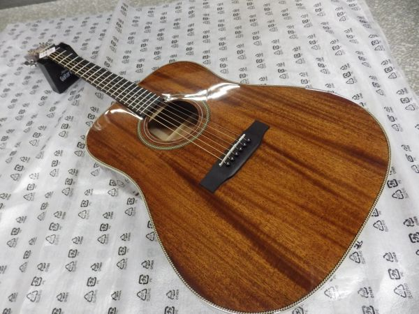 Syairi Sヤイリ  トップマホガニー単板 オールマホガニー アコースティックギター YD-05/MH チューナー・ストラップ等おまけ付_画像1