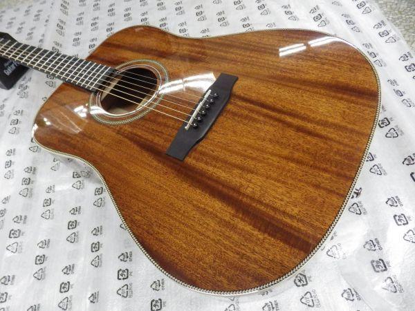 Syairi Sヤイリ  トップマホガニー単板 オールマホガニー アコースティックギター YD-05/MH チューナー・ストラップ等おまけ付_画像2