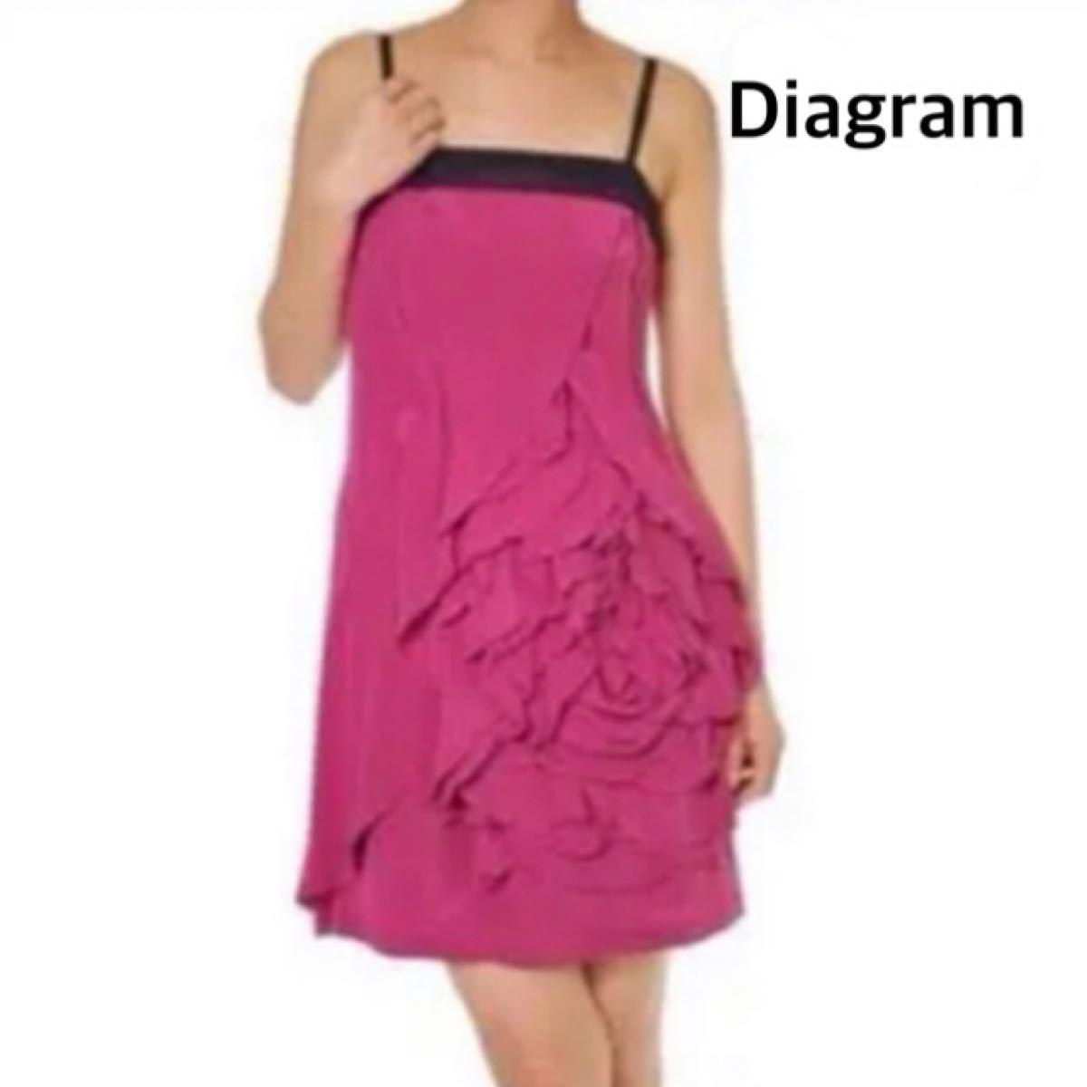 ダイアグラム グレースコンチネンタル ドレス ワンピース パーティー 結婚式 ローズピンク