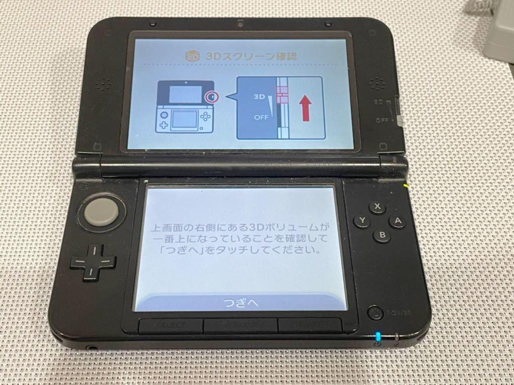 美品ニンテンドー3DS LL ブルーブラック 本体動作品 送料無料 任天堂 Nintendo 付属品付き