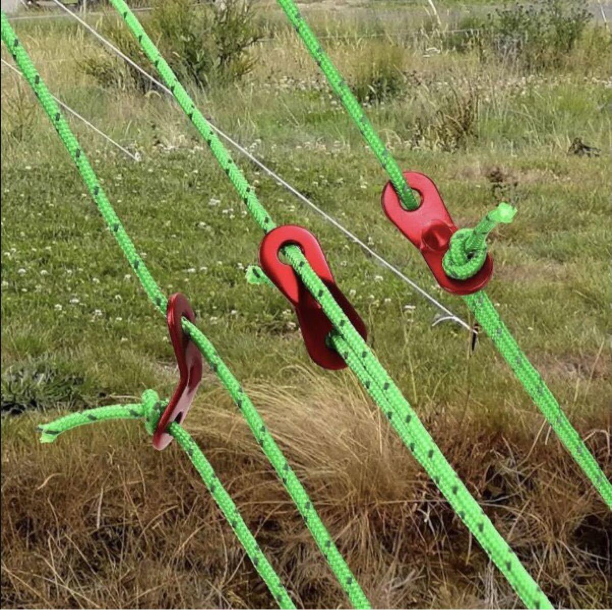 キャンプ アウトドア 反射ロープ テントロープ 4mm