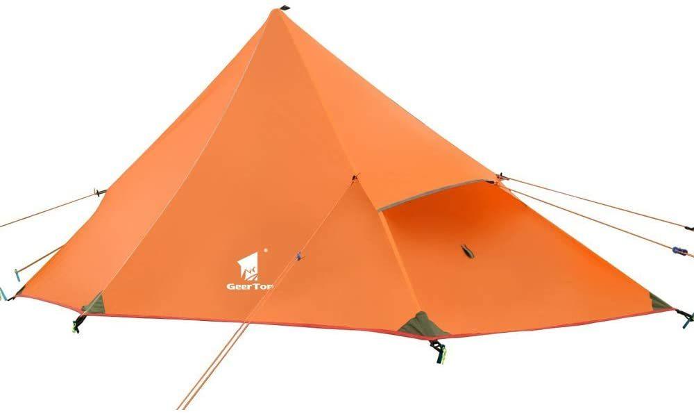 超軽量!二重層 テント インナー メッシュ ソロ キャンプ ツーリング ティピーテント 登山 自転車 防災
