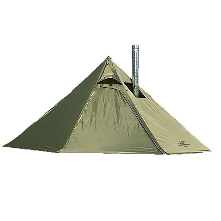 ワンポールテント 3人用 1.46㎏ 設営 簡単 BBQ ソロ キャンプ ツーリング 海 登山用