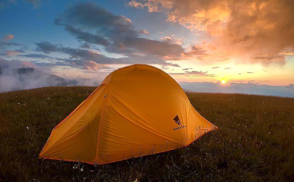 グランドシート付属 ソロ~2人用 テント 軽量 コンパクト 防水 ツーリング ソロキャンプ