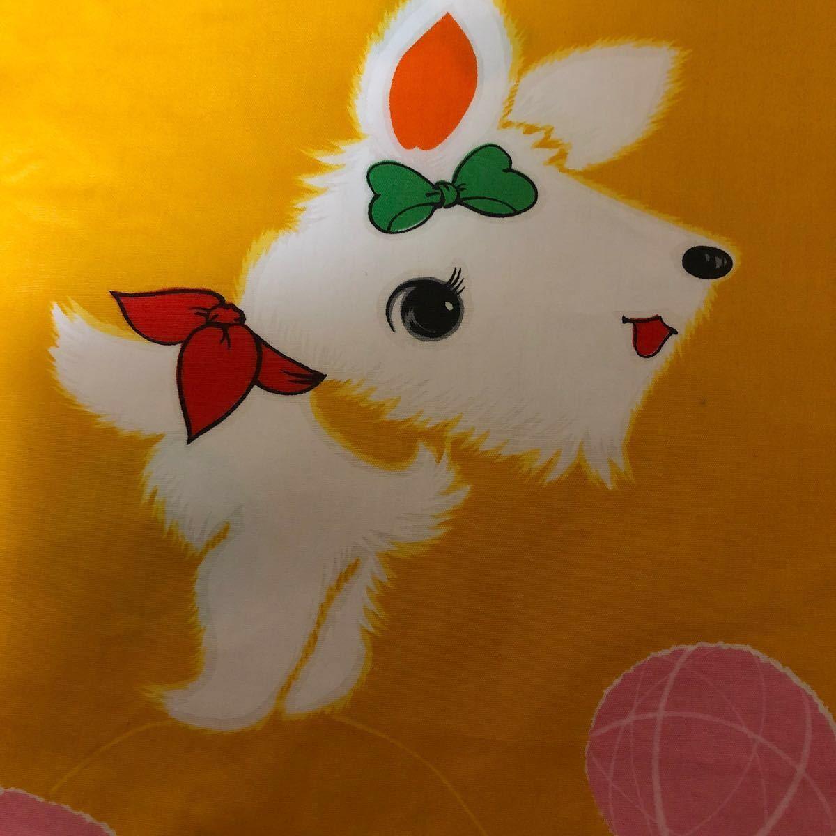 プーちゃん様 2点 昭和レトロ 生地 ハギレ ビンテージ 柄 犬