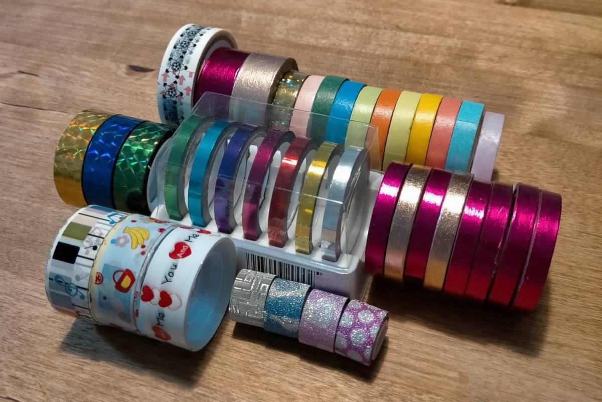 ☆送料無料☆サイズ色々 マスキングテープ 約30個セット メタリックテープ_画像1