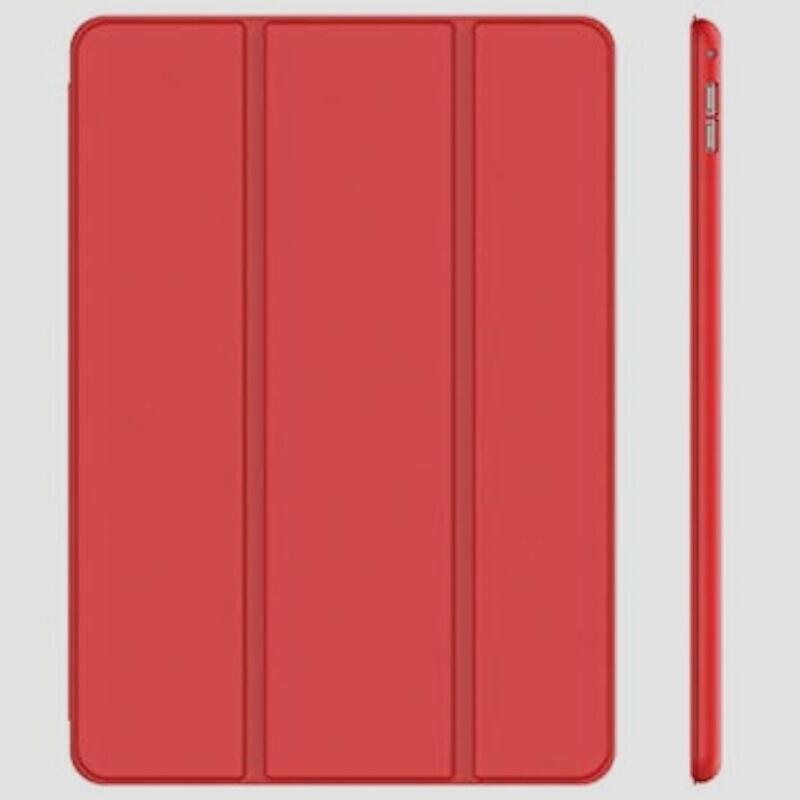 新品JEDirect iPad Pro 12.9 (2015/2017型) ケース レザー 三つ折スタンド (レッドE849_画像1