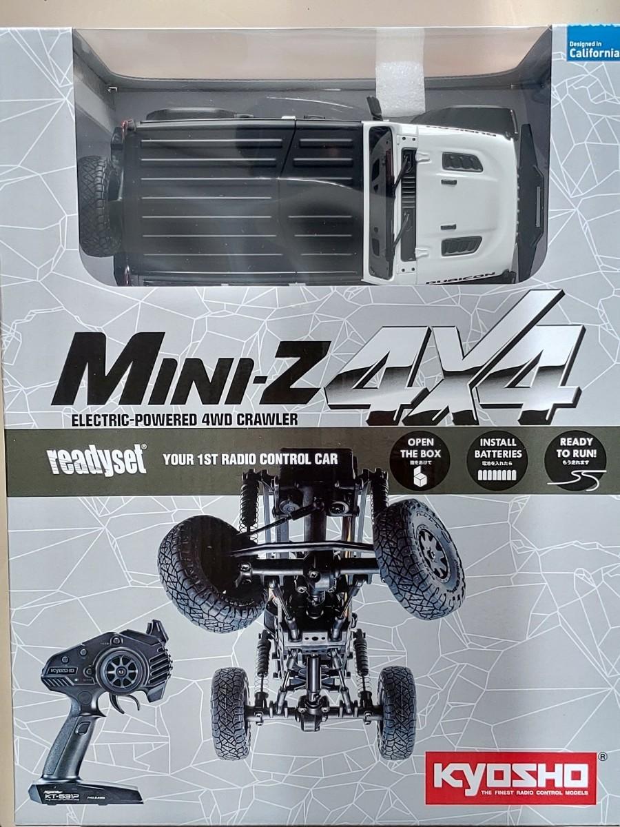 未開封京商 ミニッツ 4×4 ジープ ラングラー アンリミテッドルビコン ホワイト 4x4 xS2