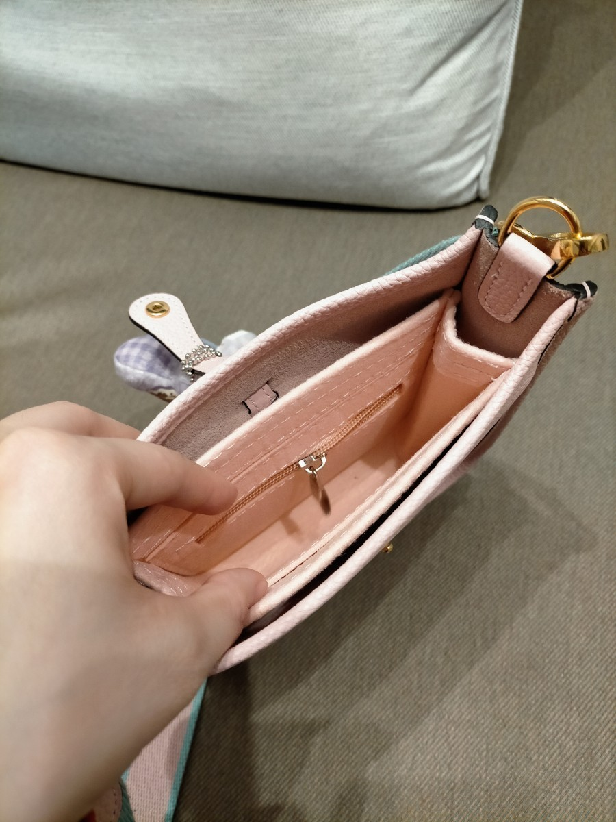 バッグインバッグ インナーバッグ エヴリン エブリン tpm ピンク