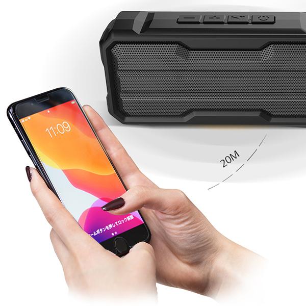 *Bluetooth 高音質 ワイヤレス スピーカー IPX4防水 軽量 ポータブル ハンズフリー通話 充電式 マイク内蔵 TWS機能 wj7_画像7