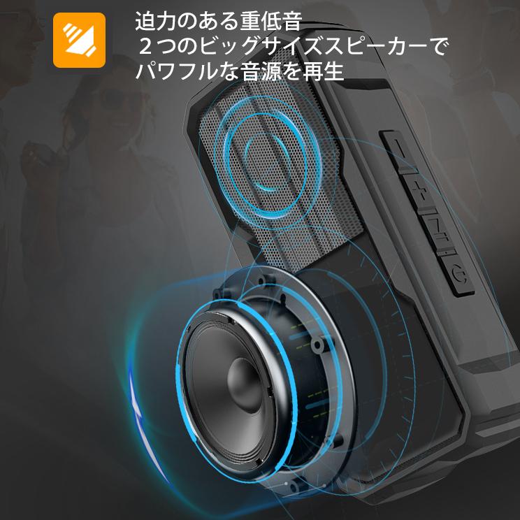 *Bluetooth 高音質 ワイヤレス スピーカー IPX4防水 軽量 ポータブル ハンズフリー通話 充電式 マイク内蔵 TWS機能 wj7_画像8