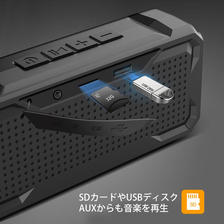 *Bluetooth 高音質 ワイヤレス スピーカー IPX4防水 軽量 ポータブル ハンズフリー通話 充電式 マイク内蔵 TWS機能 wj7_画像9