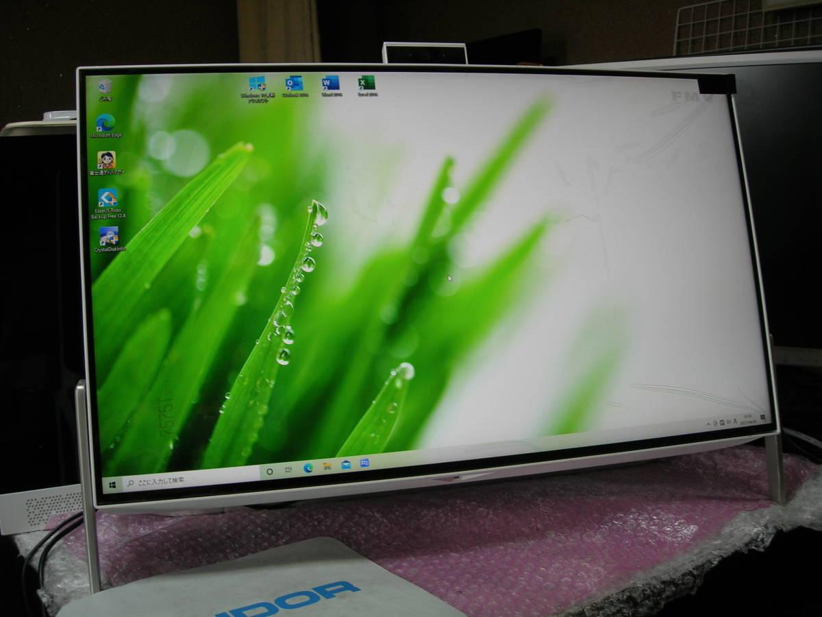 ◆4辺狭額フレーム23.8型ワイド液晶◆Intel第7世代(KabyLake)プロセッサー・快速新品SSD搭載◆最新Win10(Ver:20H2)/Microsoft 365◆美品!!