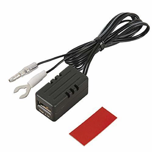 色後部座席延長用(充電用) エーモン USB電源ポート MAX2.1A 後部座席延長用 2880_画像1