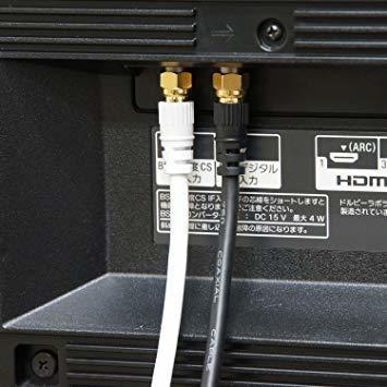 ホワイト 7m HORIC アンテナケーブル S-4C-FB同軸 7.0m ホワイト BS/CS/地デジ/4K8K放送対応 F型_画像5