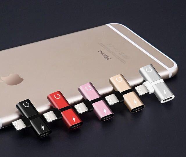 iPhone専用 イヤホン変換アダプター 2in1 イヤホン 充電014_画像4